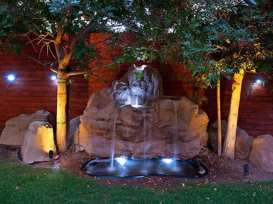 фонтан с своем саду