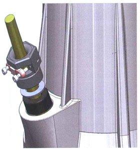 Прижим для кабеля из нержавеющей стали